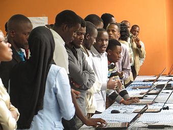 ICT students during Carrier Day